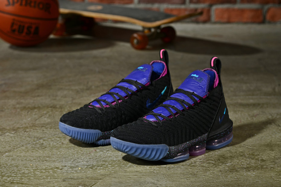 Cheap Nikes LeBron 16 King Black Pink Blue On VaporMaxRunning