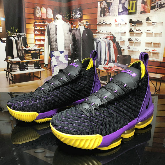 Cheap Nikes LeBron 16 King Purple Yellow Black On VaporMaxRunning