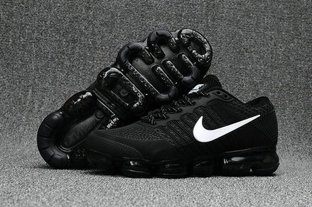 Cheap Official Nike Air Max 2018 Black White Sneakers On VaporMaxRunning