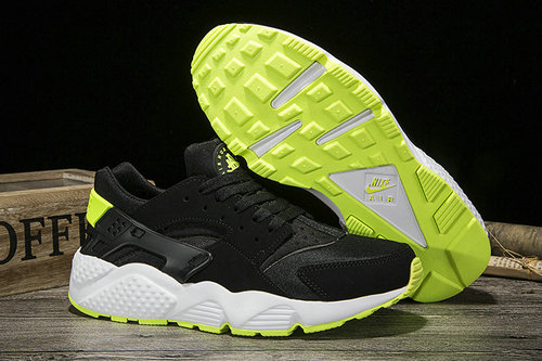 Cheap Sale Nike Air Huarache Womens Running Fluorescent Green Black White On VaporMaxRunning