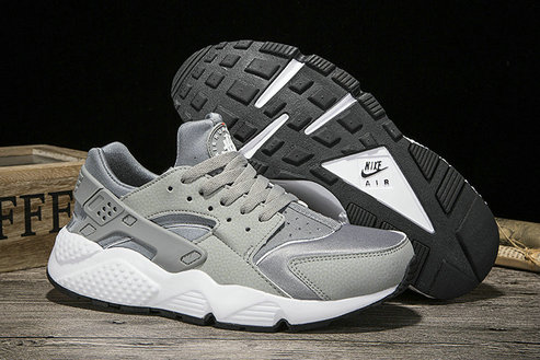 Cheap Sale Nike Air Huarache Womens Running Silver Grey Black White On VaporMaxRunning