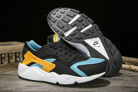 Cheap Sale Nike Air Huarache Womens Running Yellow Blue Black Grey White On VaporMaxRunning