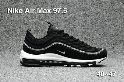 Cheap Sale Nike Air Max 97 Mens Black Grey White On VaporMaxRunning