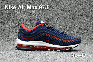 Cheap Sale Nike Air Max 97 Mens Red Navy Blue White On VaporMaxRunning