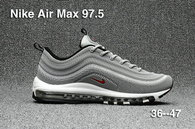 Cheap Sale Nike Air Max 97 Mens White Grey Red On VaporMaxRunning