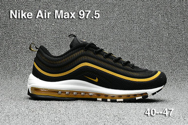 Cheap Sale Nike Air Max 97 Mens Yellow Black White On VaporMaxRunning