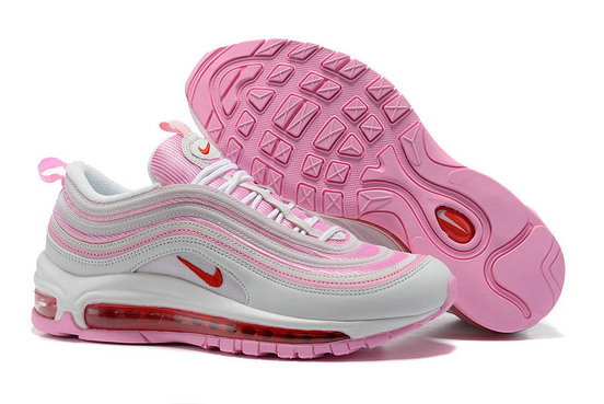 Cheap Sale Nike Air Max 97 Womens White Pink Red On VaporMaxRunning