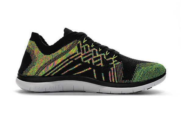 Cheap Sale Nike Free 4.0 Flyknit Running Shoes Fluorescent Green Yellow Black White On VaporMaxRunning