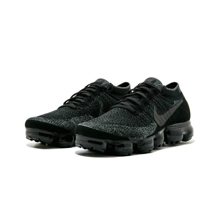Cheap Womens Nike Air Vapor Max Flyknit All Black Grey On VaporMaxRunning