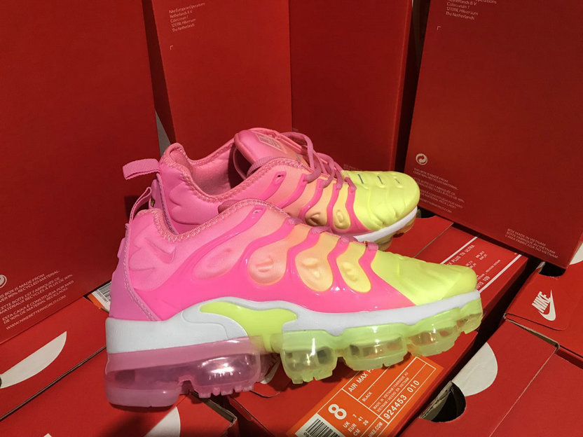 Cheap Womens NikeLab Air VaporMax Plus Pink Yellow White On VaporMaxRunning