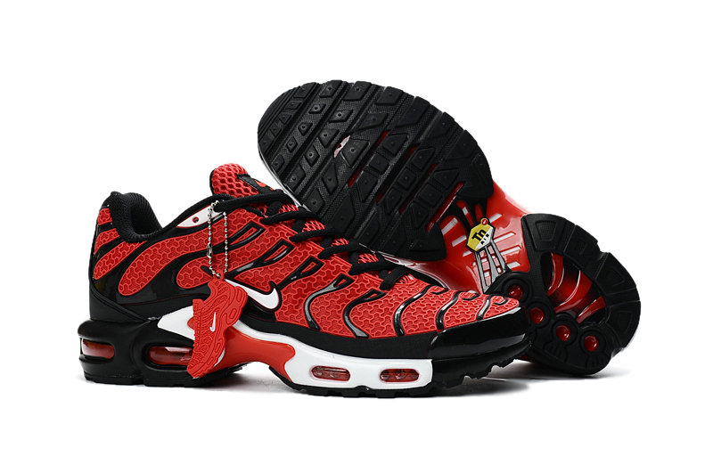 Customize Nike TN Shoes Cheap Nike Air Max Red Black White On VaporMaxRunning