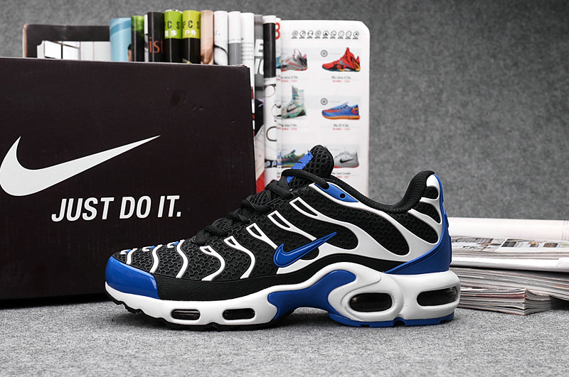 Customize Nike TN Shoes Cheap Nike Air Max White Black Blue On  VaporMaxRunning 98d2e8545d