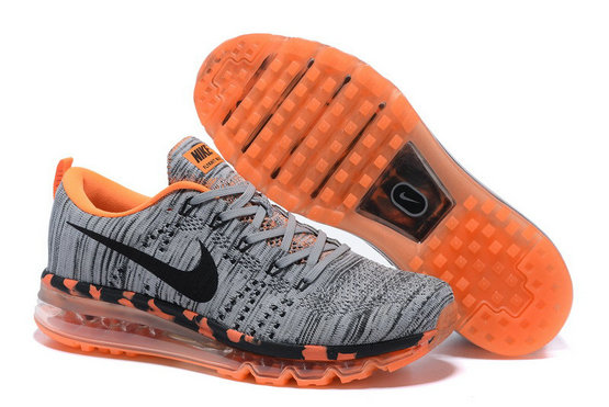 Grey Orange Black Flyknit Air Max On VaporMaxRunning