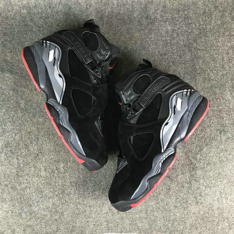 Jordan Brand The Air Jordan 8 Black Cement On VaporMaxRunning