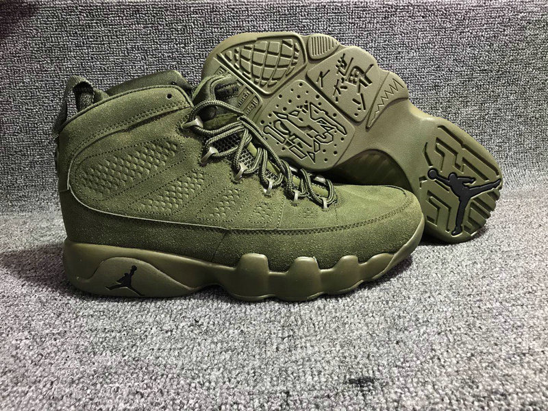 Jordan Brand The Air Jordan 9 Army Green On VaporMaxRunning