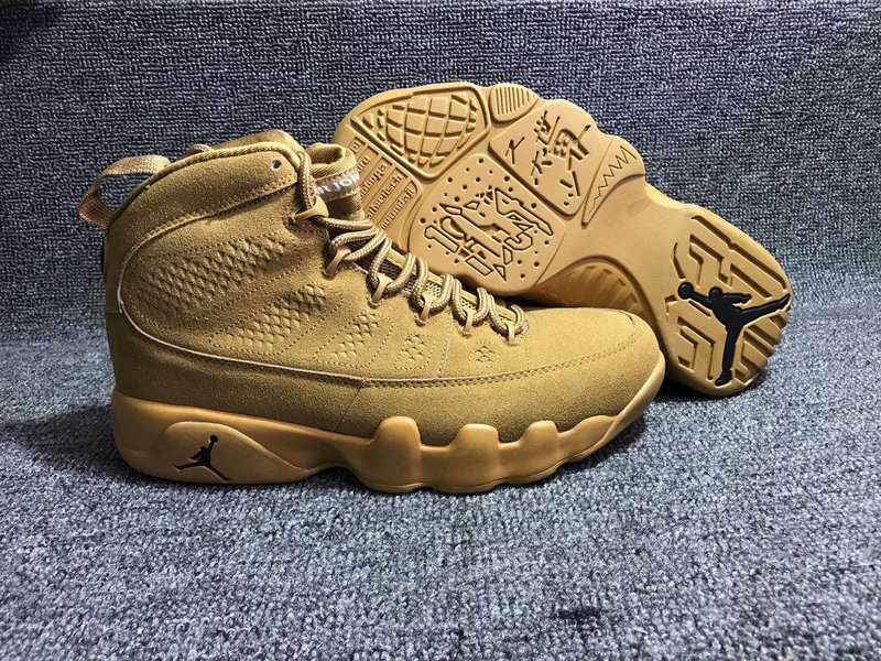 Jordan Brand The Air Jordan 9 Wheat On VaporMaxRunning
