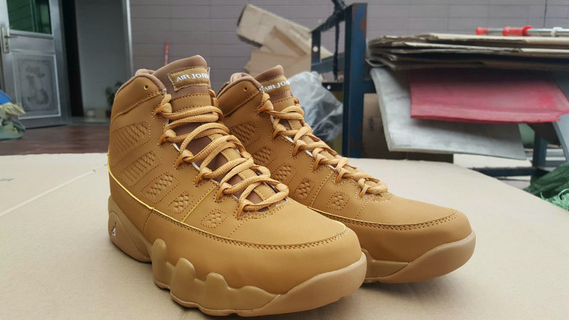 Jordans For Cheap Nike Air Jordan 9 Wheat Yellow On VaporMaxRunning