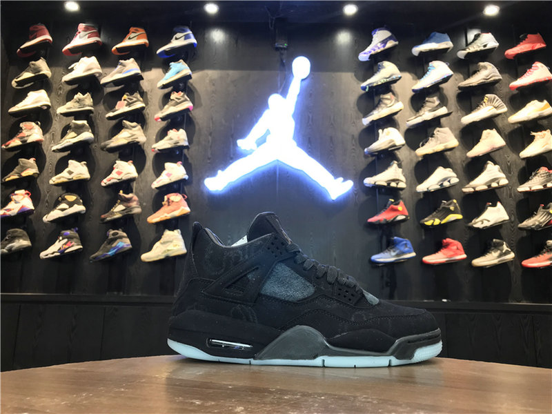 2018 New Jordan Shoes Cheap KAWS x Air Jordan 4 Black 930155-001 On VaporMaxRunning