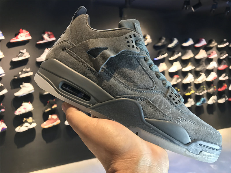 2018 New Jordan Shoes Cheap KAWS x Air Jordan 4 Cool Grey 930155-003 On VaporMaxRunning