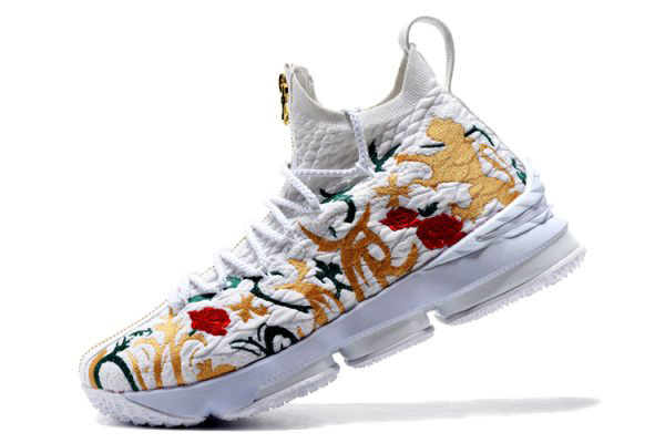 Cheap KITH x Nike LeBron 15 Floral White Floral-Gold Mens Basketball Shoes On VaporMaxRunning