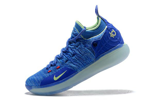 Cheap Kevin Durants Nike KD 11 Paranoid Bright Blue Volt For Sale On VaporMaxRunning