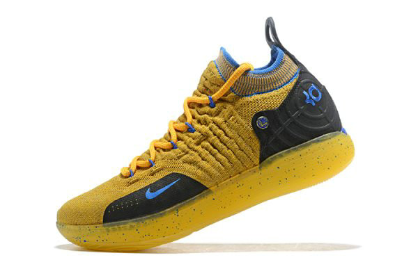 Cheap Kevin Durants Nike KD 11 Yellow Black-Blue Shoes Free Shipping On VaporMaxRunning