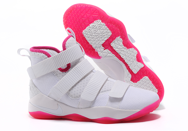 Lebron Soldier Sneakers Cheap Nike Lebron Soldier 11 Pink White On VaporMaxRunning