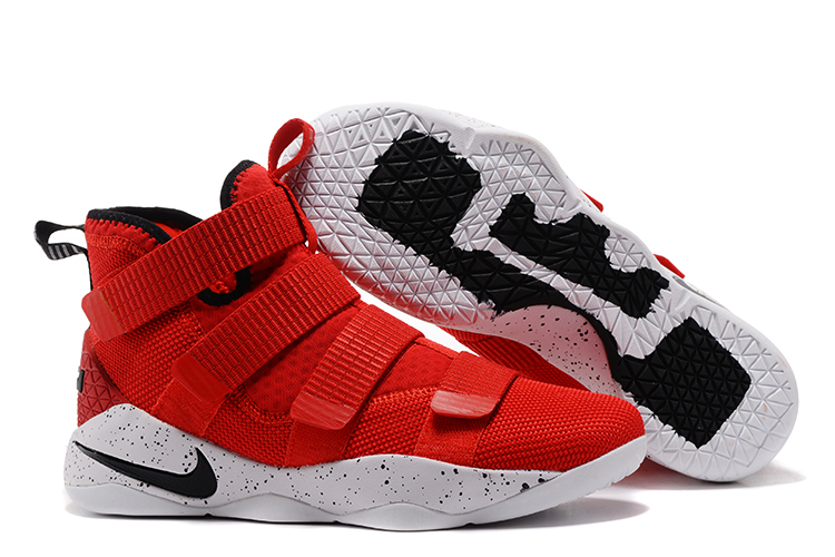 Lebron Soldier Sneakers Cheap Nike Lebron Soldier 11 Red Black White On VaporMaxRunning