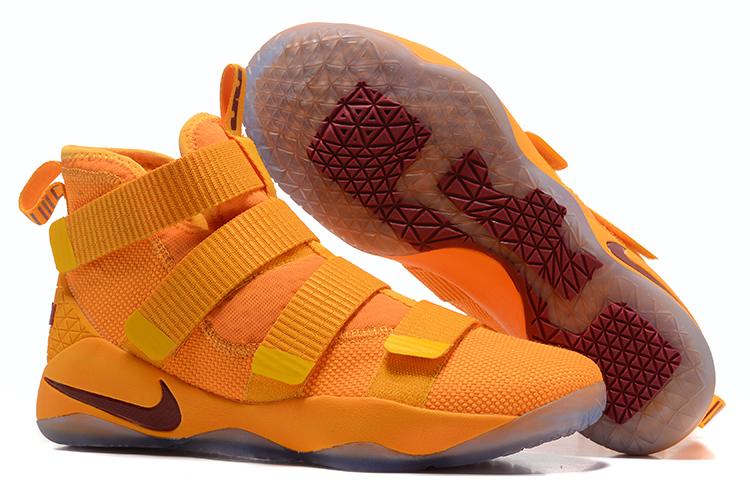 Lebron Soldier Sneakers Cheap Nike Lebron Soldier 11 Yellow Wie Red On VaporMaxRunning