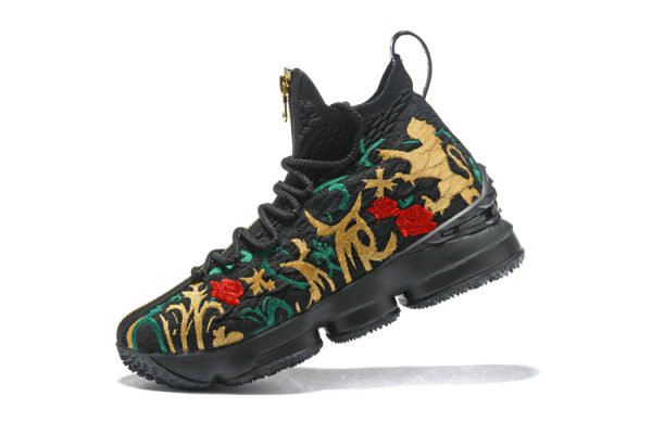 Cheap Mens KITH x Nike LeBron 15 Kings Crown Long Live The King Black Multi-Color On VaporMaxRunning