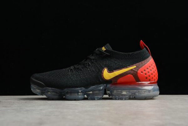 Cheap Mens Nike Air Vapormax Flyknit 2.0 Laser Orange Black Laser Orange-Total Crimson 942842-005 On VaporMaxRunning