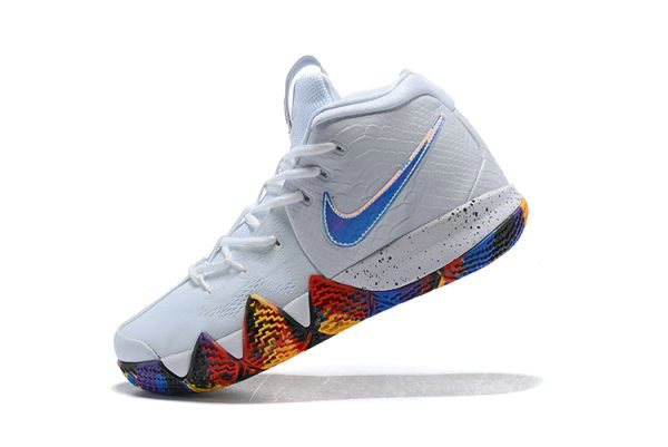 Cheap Mens Nike Kyrie 4 NCAA March Madness White Multi-Color 943806-104 On VaporMaxRunning