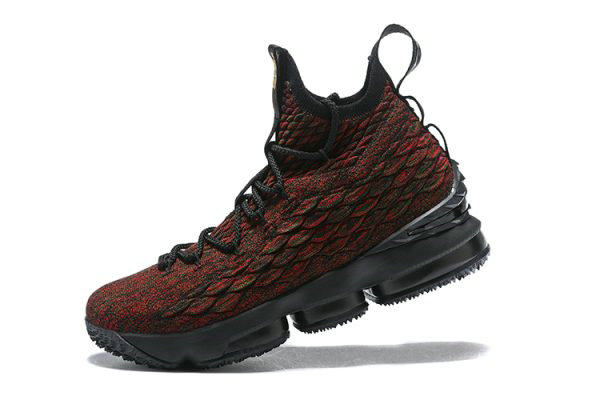 Cheap Mens Nike LeBron 15 BHM Black Multi-Color Basketball Shoes AA3857-900 On VaporMaxRunning