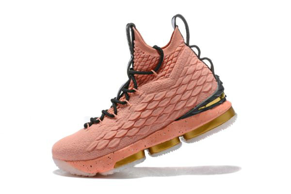 Cheap Mens Nike LeBron 15 Hollywood All-Star Rust Pink Metallic Gold-Black 897650-600 On VaporMaxRunning