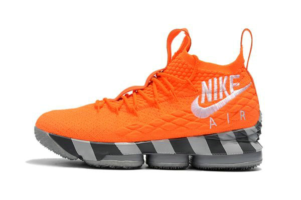 Cheap Mens Nike LeBron 15 Orange Box Total Orange White-Mine Grey AR5125-800 On VaporMaxRunning