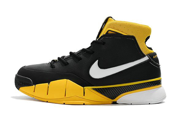 Cheap Mens Nike Zoom Kobe 1 Protro Black White-Varsity Maize AQ2728-003 On VaporMaxRunning