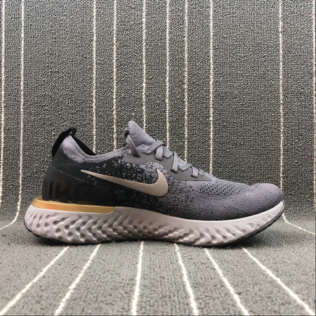 NIKE EPIC REACT FLYKNIT AQ0067-009 DEEP PURPLE ASH BLACK GREY GOLD VIOLET FONCE GRIS On VaporMaxRunning