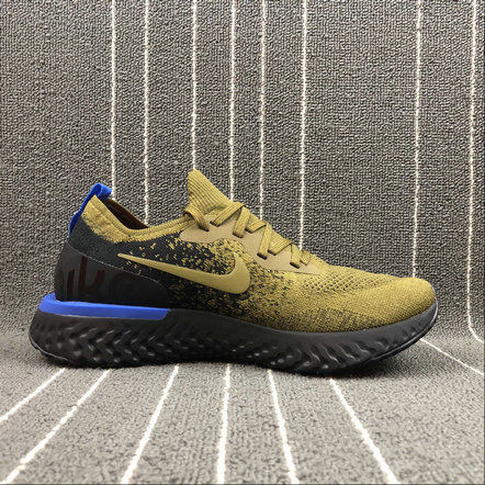 NIKE EPIC REACT FLYKNIT AQ0067-301 DEEP GREEN GOLD BLACK BLUE VERT FONCE NOIR On VaporMaxRunning
