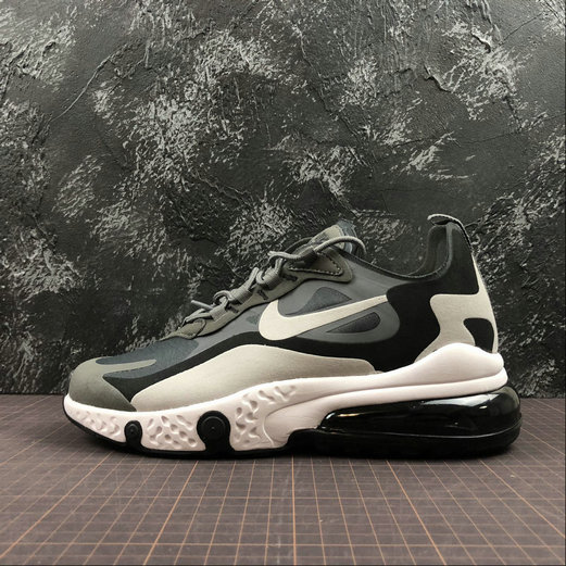 Cheap NIKE REACT AIR MAX AQ9087-001 M.Grey L.grey Black M.Gris L.Gris Noir On VaporMaxRunning
