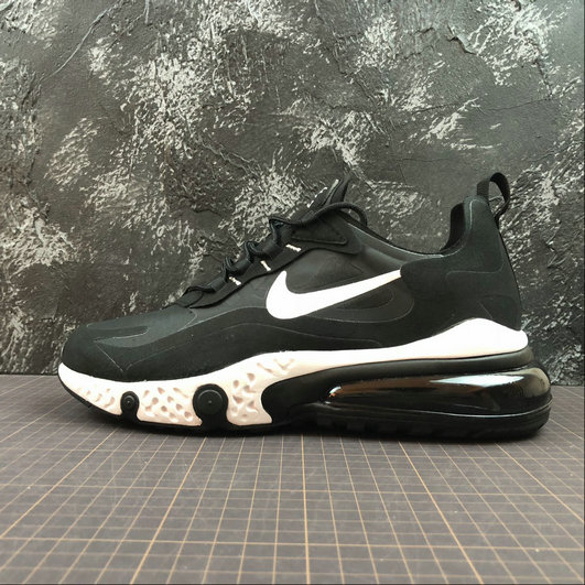 Cheap NIKE REACT AIR MAX AQ9087-002 Black White Noir Blanc On VaporMaxRunning