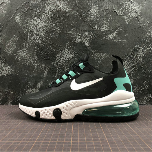 Cheap NIKE REACT AIR MAX AQ9087-013 Black White Jade Noir Blanc Jade On VaporMaxRunning