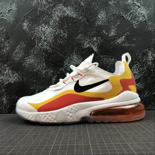 Cheap NIKE REACT AIR MAX AQ9087-109 White Gold Red Blanc OR Rouge On VaporMaxRunning