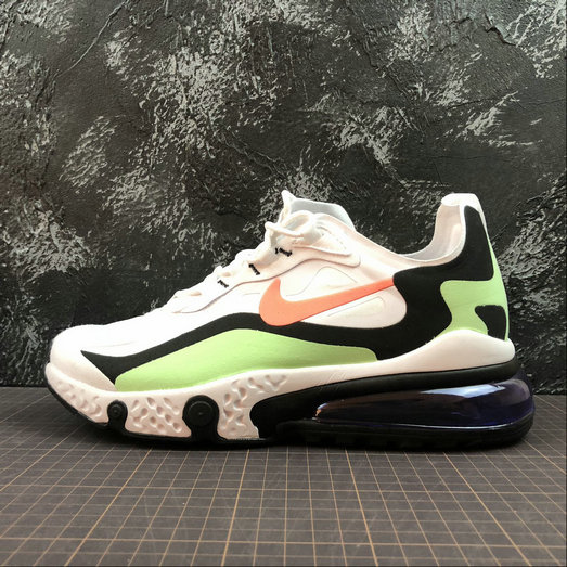 Cheap NIKE REACT AIR MAX AQ9087-183 White Black L.Green Blanc Noir L.Vert On VaporMaxRunning