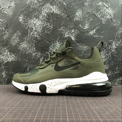 Cheap NIKE REACT AIR MAX AQ9087-300 Army Green Black Army Vert Noir On VaporMaxRunning