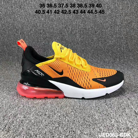 Nike Air 270 Cheap Nike Air Max 270 Yellow Orange Red Black