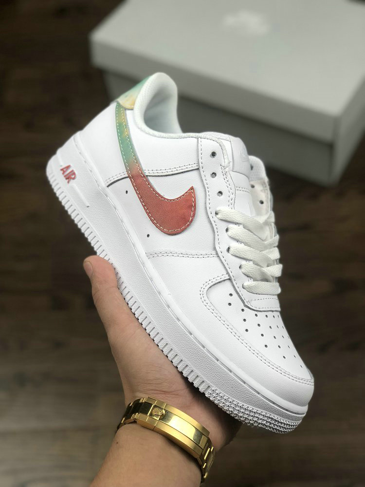 Nike Air Force 1 07 Leather 314218-131 White Brown Green