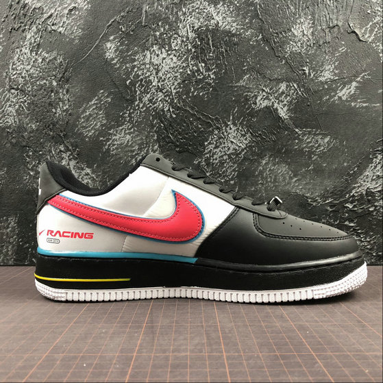 Nike Air Force 1 07 QS Womens AH8462 004 Black Racer Blue
