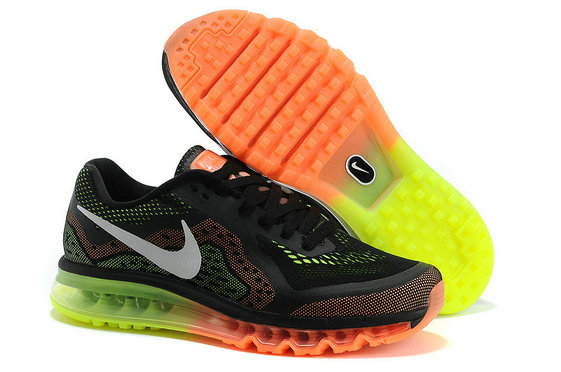 Nike Air Max 2014 Mens Running Shoe Black Orange Green On VaporMaxRunning
