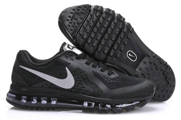 Nike Air Max 2014 Mens Running Shoe Black Silver On VaporMaxRunning