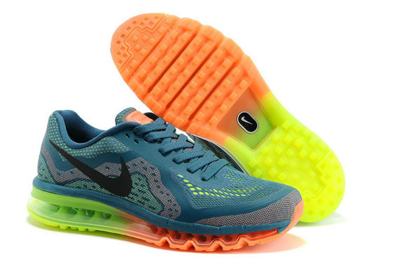 Nike Air Max 2014 Mens Running Shoe Blackish Green Orange Green On VaporMaxRunning